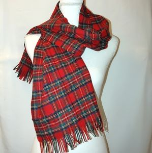 Pendleton Royal Stewart Tartan Plaid Wool Scarf